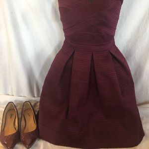 EXPRESS HOLIDAY DRESS XS MATCHING SHOES 6 Juniors